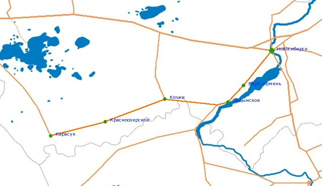 Карта-схема автодороги К-17р