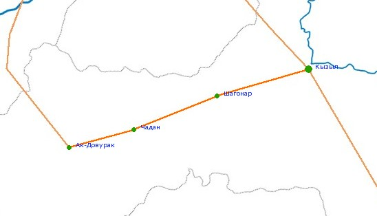 Карта-схема автодороги А-162