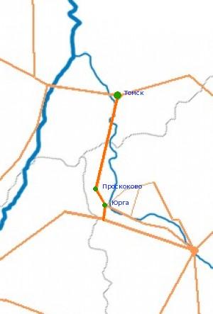 Карта-схема автодороги М-53